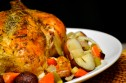 Roasted Chicken Over Root Vegetables
